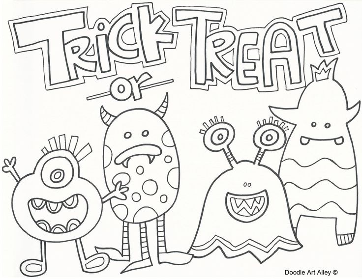 Halloween Celebration Doodles HalloweenFall Color By