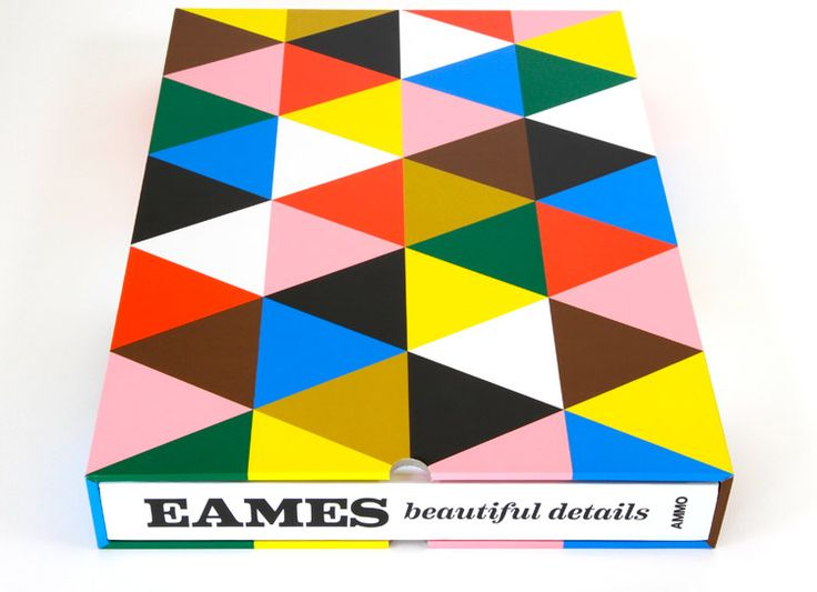 Eames: Beautiful Details by AMMO Books. Beautiful Details covers Charles and Ray Eames' extensive exploration in textiles, product, graphic design, toys, film, and photography.