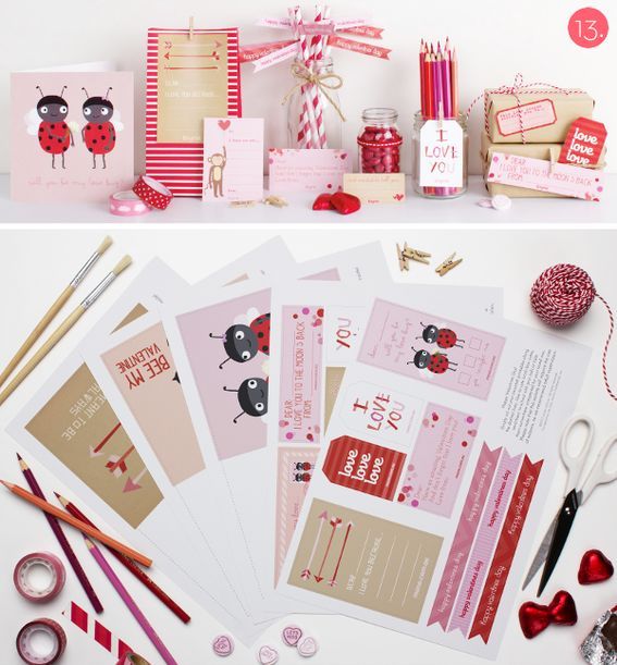 Roundup: 14 Last-Minute Printable Valentine's Day Cards (Free Downloads)!