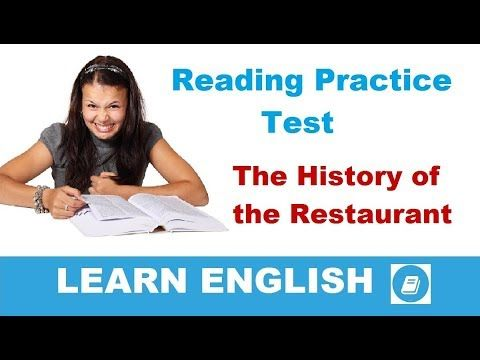 The History of the Restaurant - Elementary Reading & Listening Test
