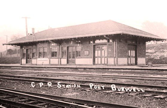 PORT BURWELL , Ontario - Canadian Pacific Railway station - canadarail