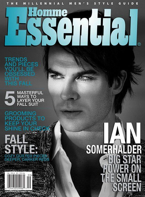 Ian Somerhalder 2012: Homme Essential, Covers Essential, Homme Magazines, 2012 Issues, Diaries Obsession, Vampires Diaries, Essential Homme, Ian Somerhalder, Magazines Covers