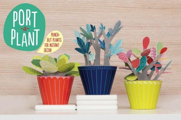 DIY   Port-a-plant Leuk, papieren planten in de #kinderkamer   Via papiermier.be