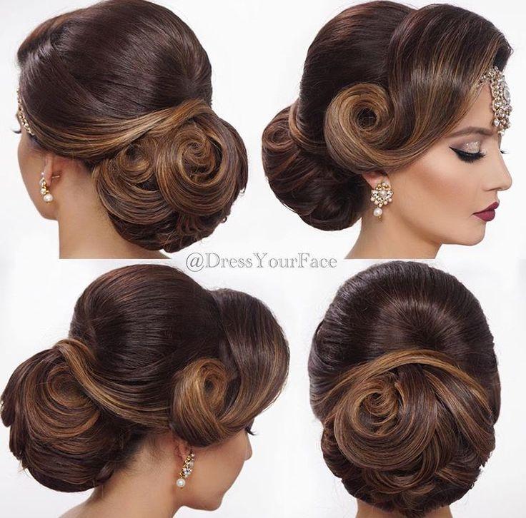 indian bun hairstyles for long hair