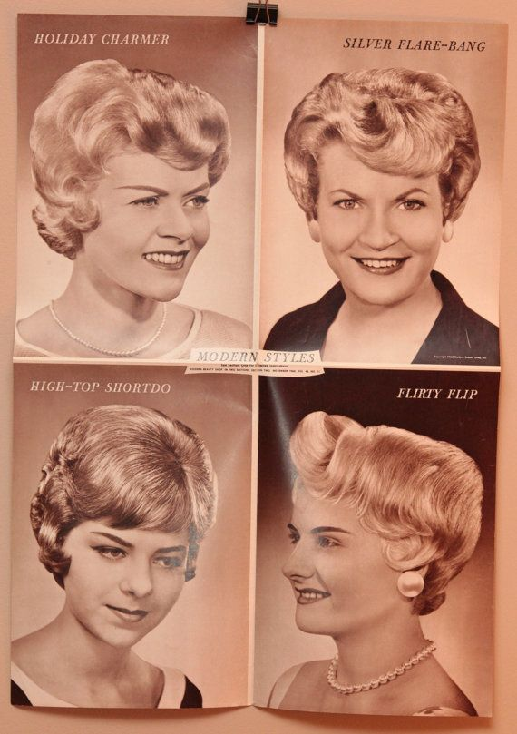Lot Of Three Vintage Hair Salon Posters 16x22 1950s