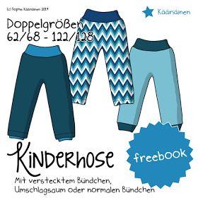 Näähglück by Sophie Kääriäinen: Freebook - Kinderhose - schnell und einfach, und doch raffiniert!