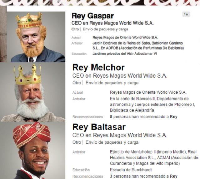 Melchor, Gaspar y Baltasar: Los #ReyesMagos buscan #trabajo estable en #Linkedin <a href=