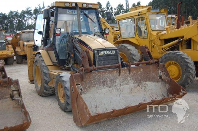 Retroexcavadora de ruedas usada CAT 428C. Pelle Caterpillar Bagger Baumaschine Heavy Equipment Wheel Loader http://www.ito-germany.es/de-ocasion/excavadoras/retroexcavadora Construction Equipment #Retroexcavadora #Retroexcavadora_ruedas #CAT #428C #CAT_428C #Maquinaria_construccion