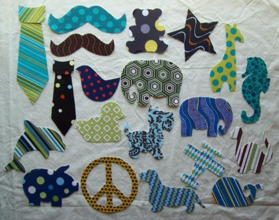 Mixed 20 Piece DIY Fabric Iron On Appliques For Boys - Baby Shower - Birthday - Gifts - Newborn Baby Toddler - Onesie Decorating