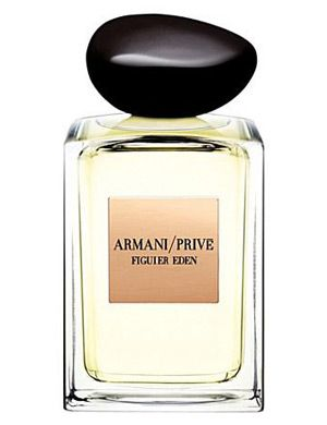 Armani Prive Figuier Eden by Giorgio Armani is a sweet, woody Aromatic Fruity fragrance inspired by the scents of Mediterranean gardens, pristine nature, olive and fig trees which bear different historical symbolism. It opens with fresh notes of mandarin, bergamot and red pepper. Accords of tea, grass and green fig for the perfume's heart, laid at the base of Moroccan iris and amber. - Fragrantica
