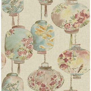 Shop for Brewster 2669-21712 Kana Beige Lantern Festival Wallpaper. Ships To Canada at Overstock.ca - Your Online Home Improvement Destination!  - 19921243