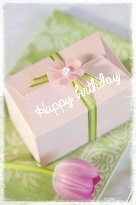 Happy Birthday - pink flower gift