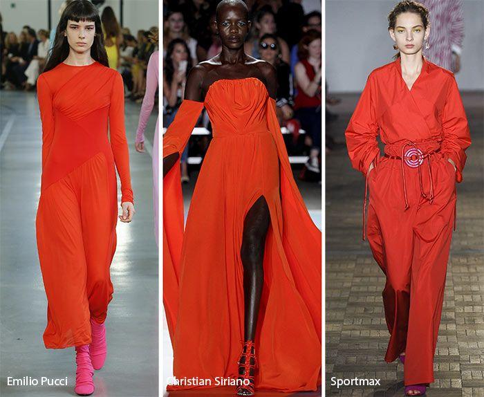Spring/ Summer 2017 Color Trends: Flame Red-Based Orange