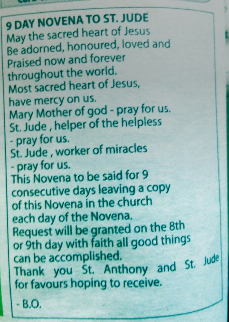 Novena to St Jude a prayer known to be very effective