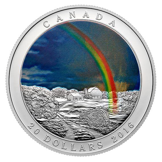 1 oz. Fine Silver Coin - Weather Phenomenon: Radiant Rainbow - Mintage: 8,000 (2016)