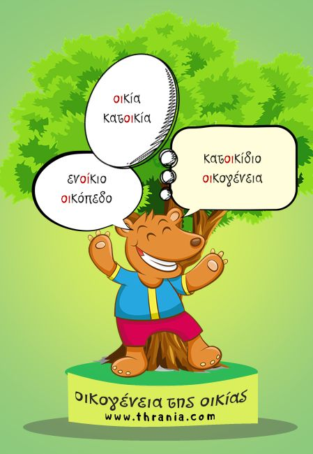 Γλώσσα - Ορθογραφία: ''Οικογένεια λέξεων - οικία''
