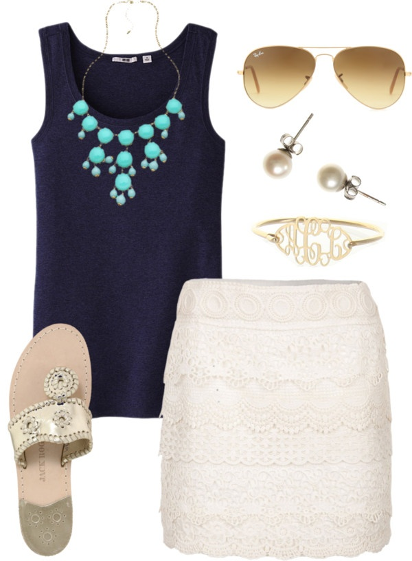 Add a shrug and some pretty flats or heels and this would be a cute outfit!!!