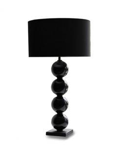 """Black Glass Lamp """"Dara"""""""