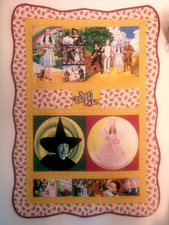 Wizard of Oz quilt. I use it for a wall hanging