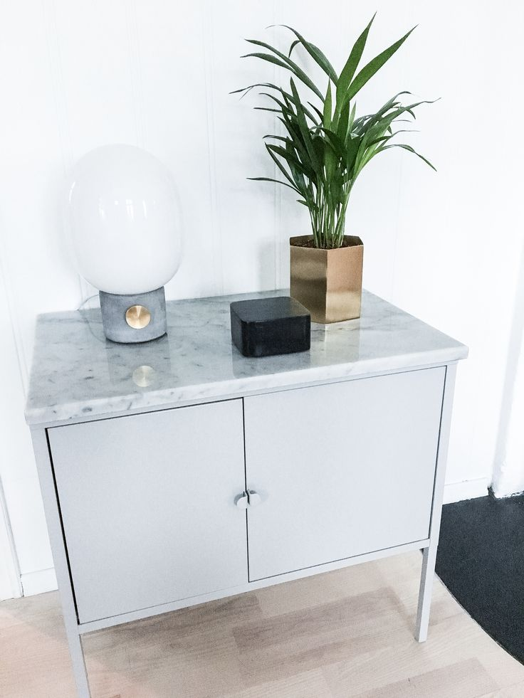 My Diy Ikea Hack Of Lixhult Cabinet With Real Marble On