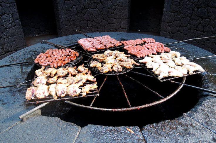 Volcano grill of El Diablo Restaurant in Timanfaya, Lanzarote