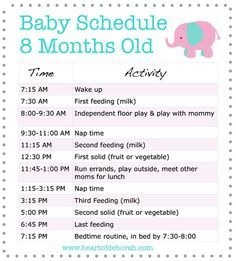 Sample feeding and sleeping baby schedule for 8 month old baby - Parenting tips for moms @ Heart of Deborah