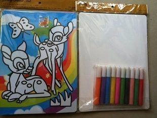 Искусства Песка цвета комплекты игрушки 4 шт. 20x28 см наклейка карты и 1 компл. из 10 цветов песок