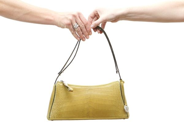 Via La Moda crocodile leather handbag