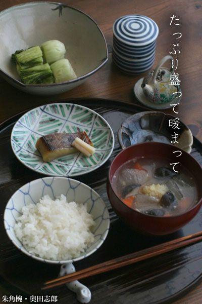 【一汁一菜】お味噌汁中心の食事:冬瓜、人参、椎茸