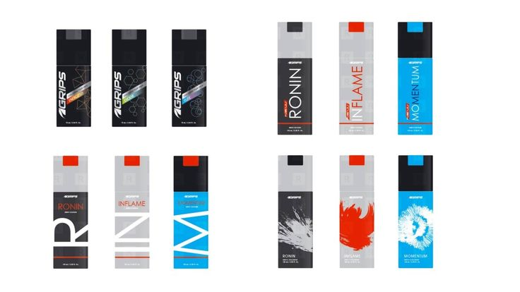 Grips Mens Body Spray Packaging Design Studies.