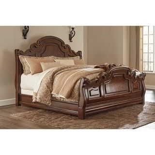 Shop for Signature Design by Ashley Brulind Dark Brown Queen Sleigh Bed. Get free shipping at Overstock.com - Your Online Furniture Outlet Store! Get 5% in rewards with Club O! - 19785861