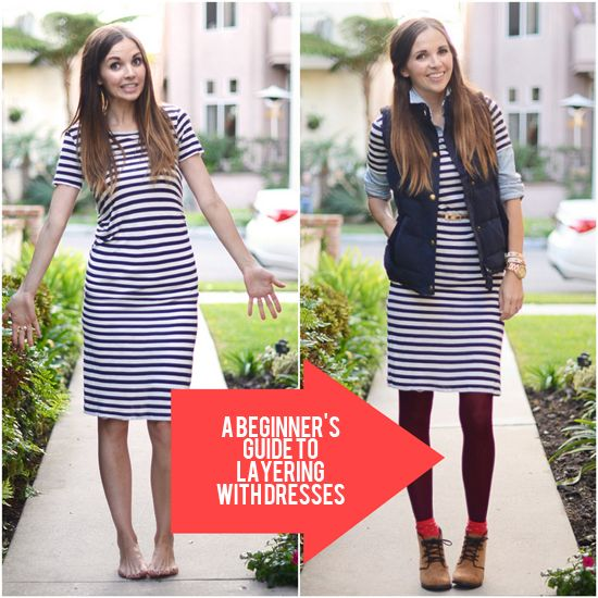 A Beginner's Guide to Layering With Dresses