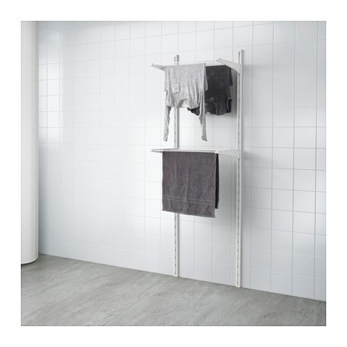 ALGOT Wall upright/drying rack IKEA The parts in the ALGOT series can be combined in many different ways and easily adapted to your needs and space.