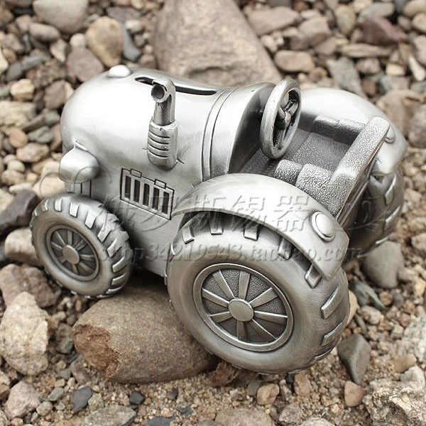 cool boy gift piggy bank metal tin money boxes tractor wheel -inMoney Boxes from Home & Garden on Aliexpress.com | Alibaba Group
