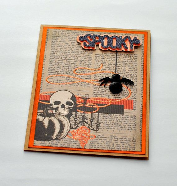 Halloween Card Halloween Spider Card Spooky by PaperSimplicity