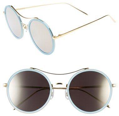 GENTLE MONSTER 52mm Round Sunglasses