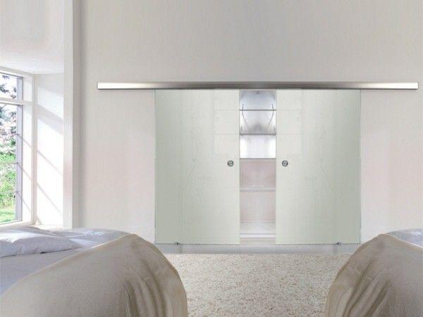 porte à galandage verre design - ConsoBrico.com