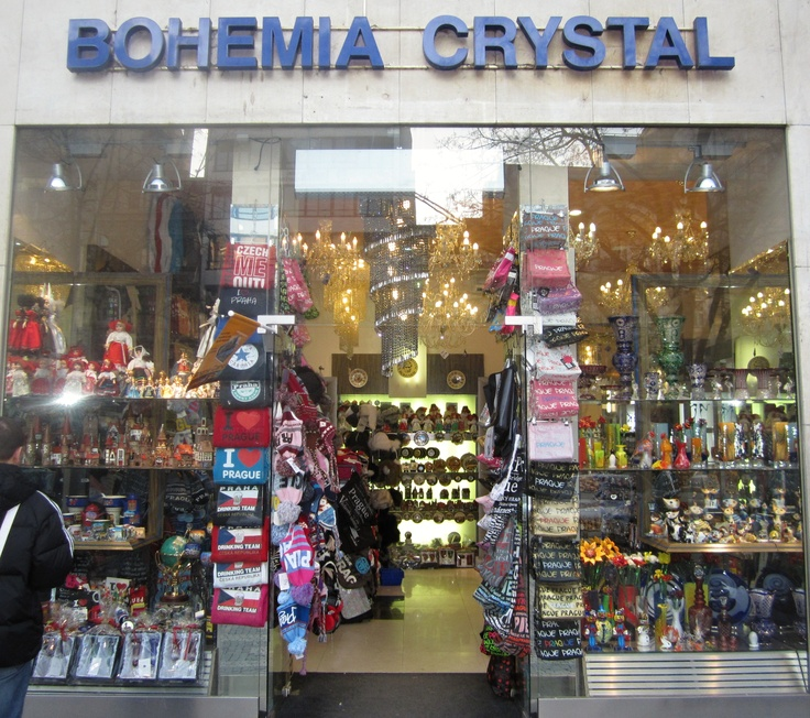 Chicken or egg? Did the Bohemia Crystal business fail because the shop looks this way, or does the shop look this way because the crystal business failed?