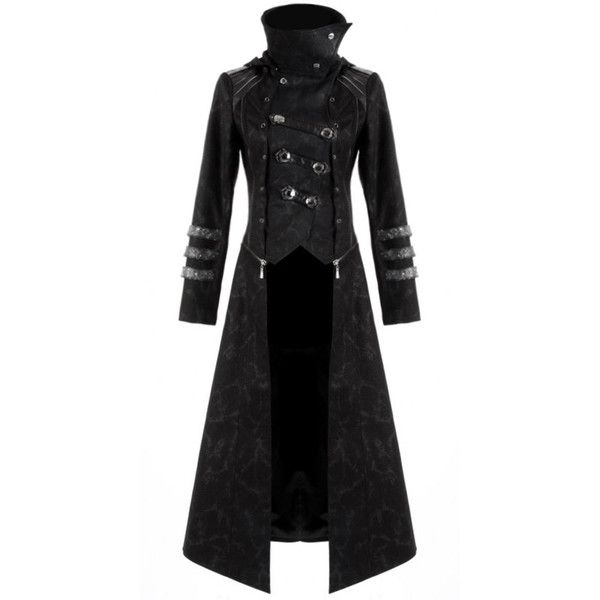 Punk Rave Scorpion Mens Coat Long Jacket Black Gothic Special Hooded... ($267) ❤ liked on Polyvore featuring men's fashion, men's clothing, men's outerwear, men's jackets, jackets, mens gothic jacket, mens jackets, mens short jacket, mens distressed leather jacket and mens long jacket