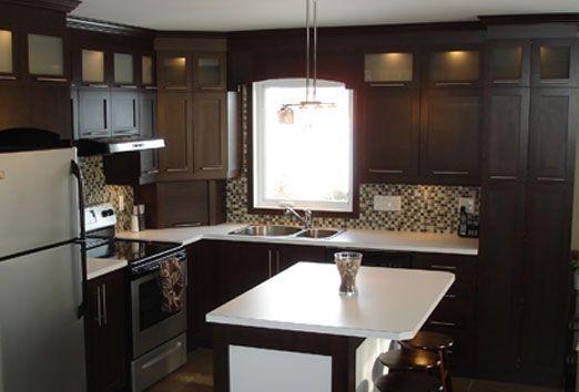 Armoires et comptoirs de cuisine armoires bms d co - Couleur de porte d armoire de cuisine ...