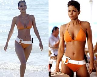 """Reminiscent of Ursula Andress' bikini moment, Jinx (Halle Berry) teams up with Bond in Cuba to track down Gustav Graves in """"Die Another Day."""""""
