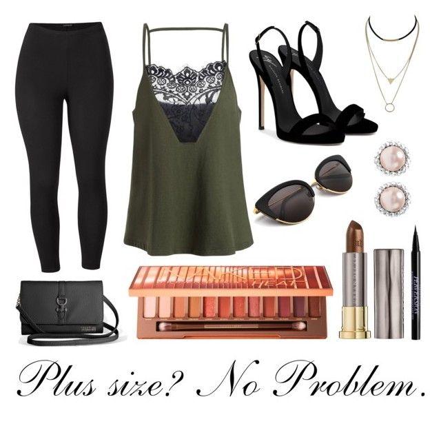 """Plus Size? No Problem."" by biebersfuturegirl on Polyvore featuring Mode, Venus, Avenue, Giuseppe Zanotti, Urban Decay, Miu Miu und plus size clothing"