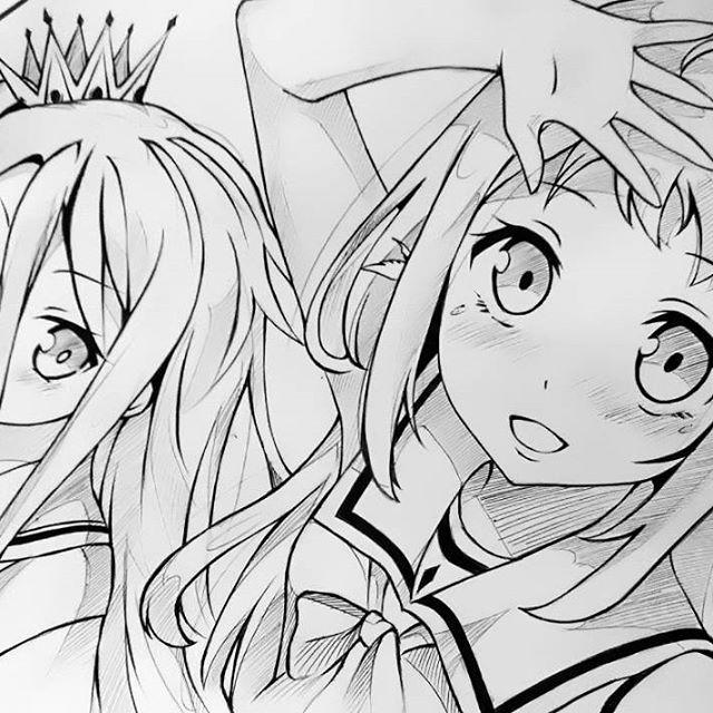 君の笑顔守るため。 #manakamukaido #shironogamenolife #凪のあすから #ノゲームノライフ #漫画家 #アニメ #オタク #ロリ #かわいい #アート #mangadrawing #animearttr #animeart #mangaart #art #sketch #pen #drawing #artoninstagram #artist #artwork #fanart #kantoku