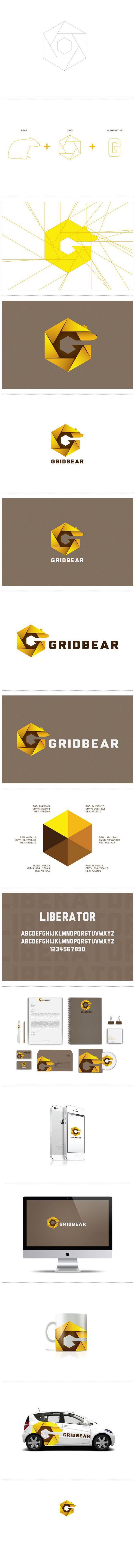 *View Higher Quality at http://www.behance.net/gallery/Grid-Bear-Corporate-Identity/7225423  Grid Bear - Corporate and Brand Identity Development