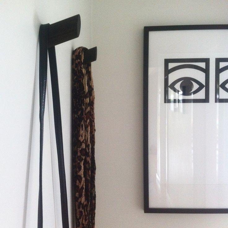 Image of JAPAN BLACK SLANT WALL HOOK 3 FOR $50