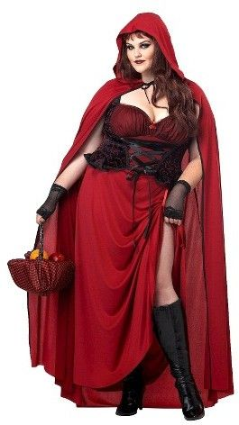 Women's Dark Red Riding Hood Plus Size Costume XX-Large . Plus size halloween costume