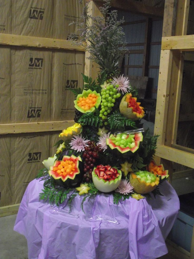 Fruit Display for wedding rehearsal!!!