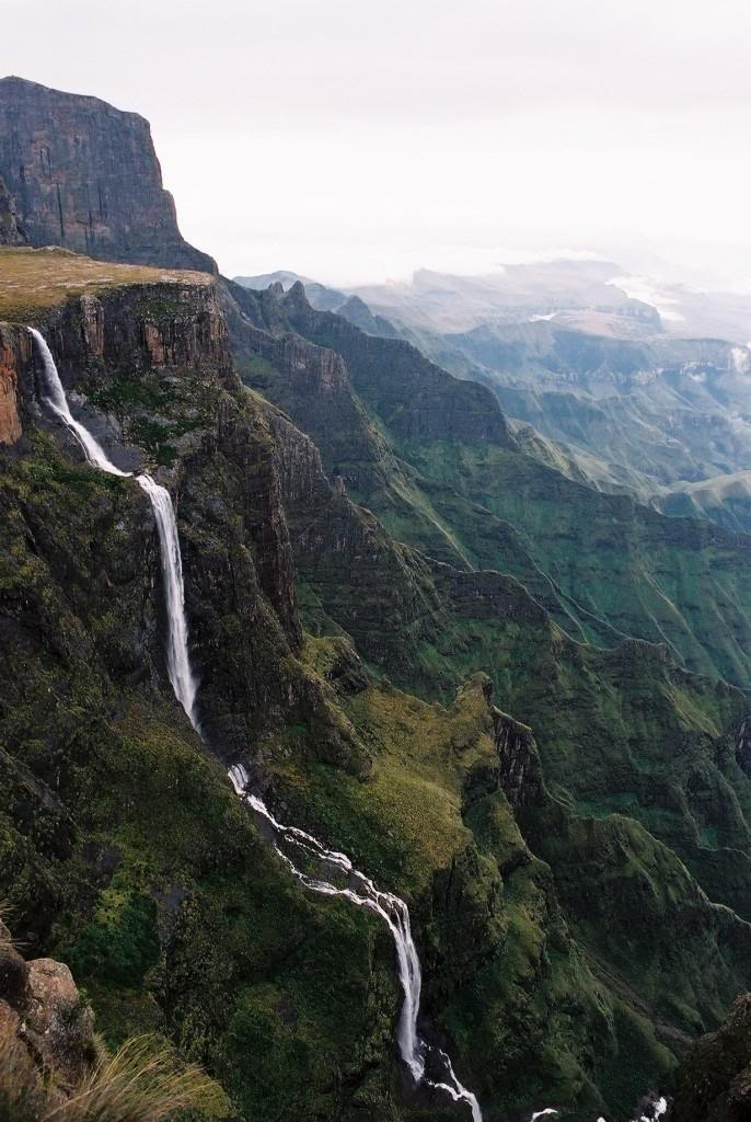 Tugela Falls -the 2nd largest waterfall in the world can be found in South Africa. It reaches a total height of 3110 feet, with the tallest drop reaching 1350 feet.