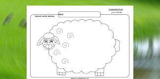 Grafomotorika. Kreslíme ovečke kučierky.