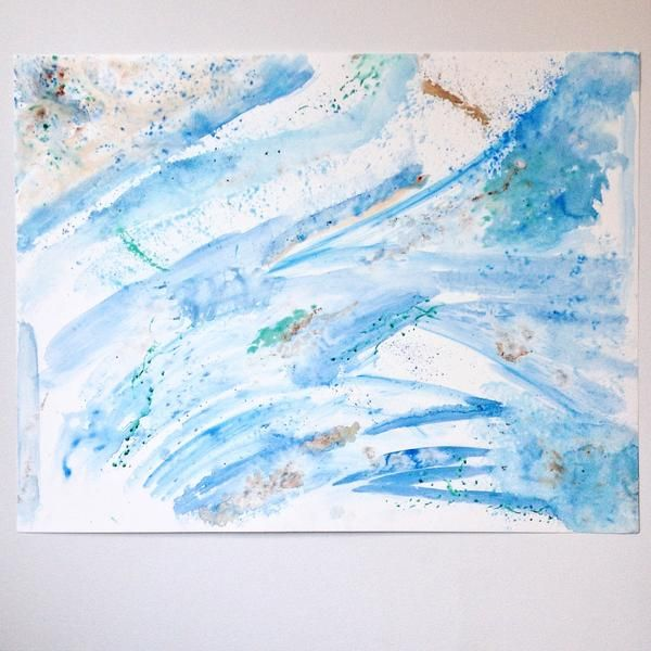 Take the Sea. Abstract Painting: Made with real sand and ocean water